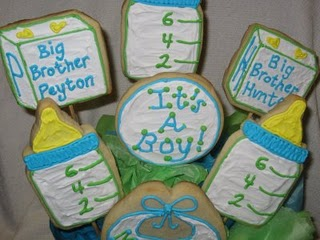 Baby Themed Cookie Bouquet