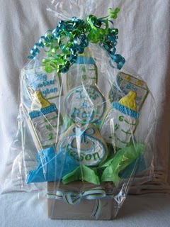 Packaged Baby Themed Cookie Bouquet