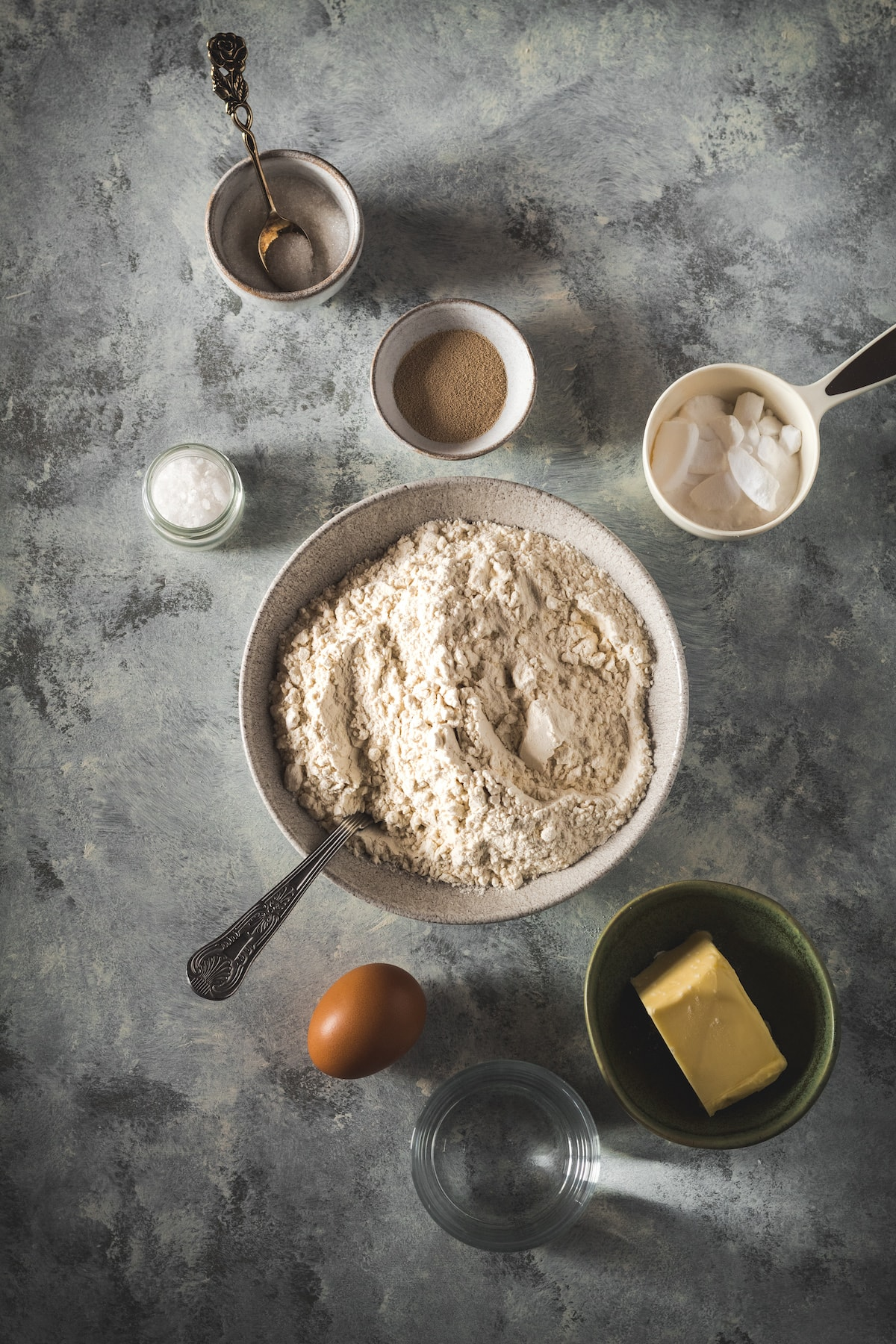 Ingredients for homemade soft pretzels.
