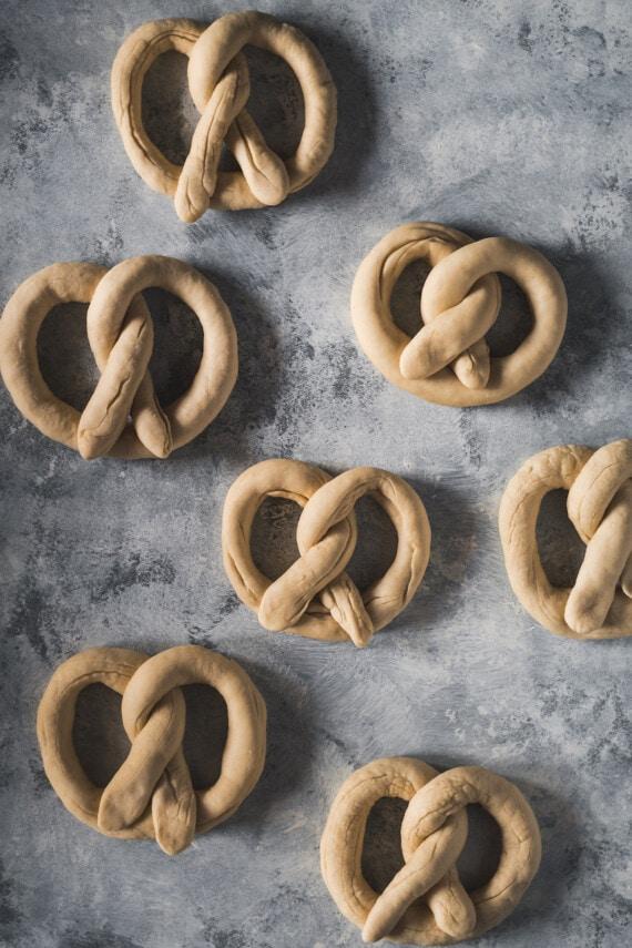 Folded pretzel knots.