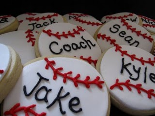 Personalized Baseball Cookies