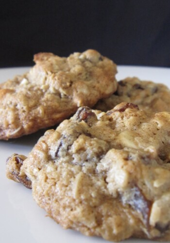 Oatmeal Raisin Cookies with Raisins and White Chocolate Chips