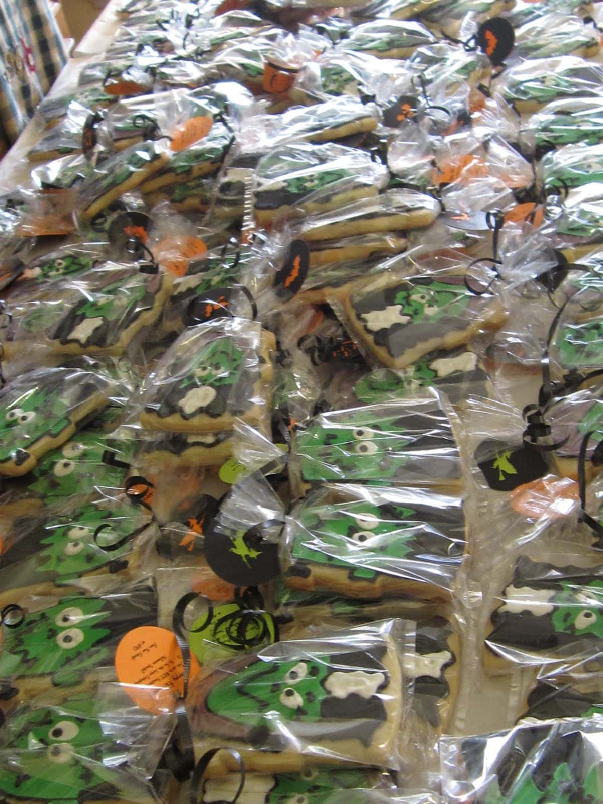 Individually wrapped halloween cookies