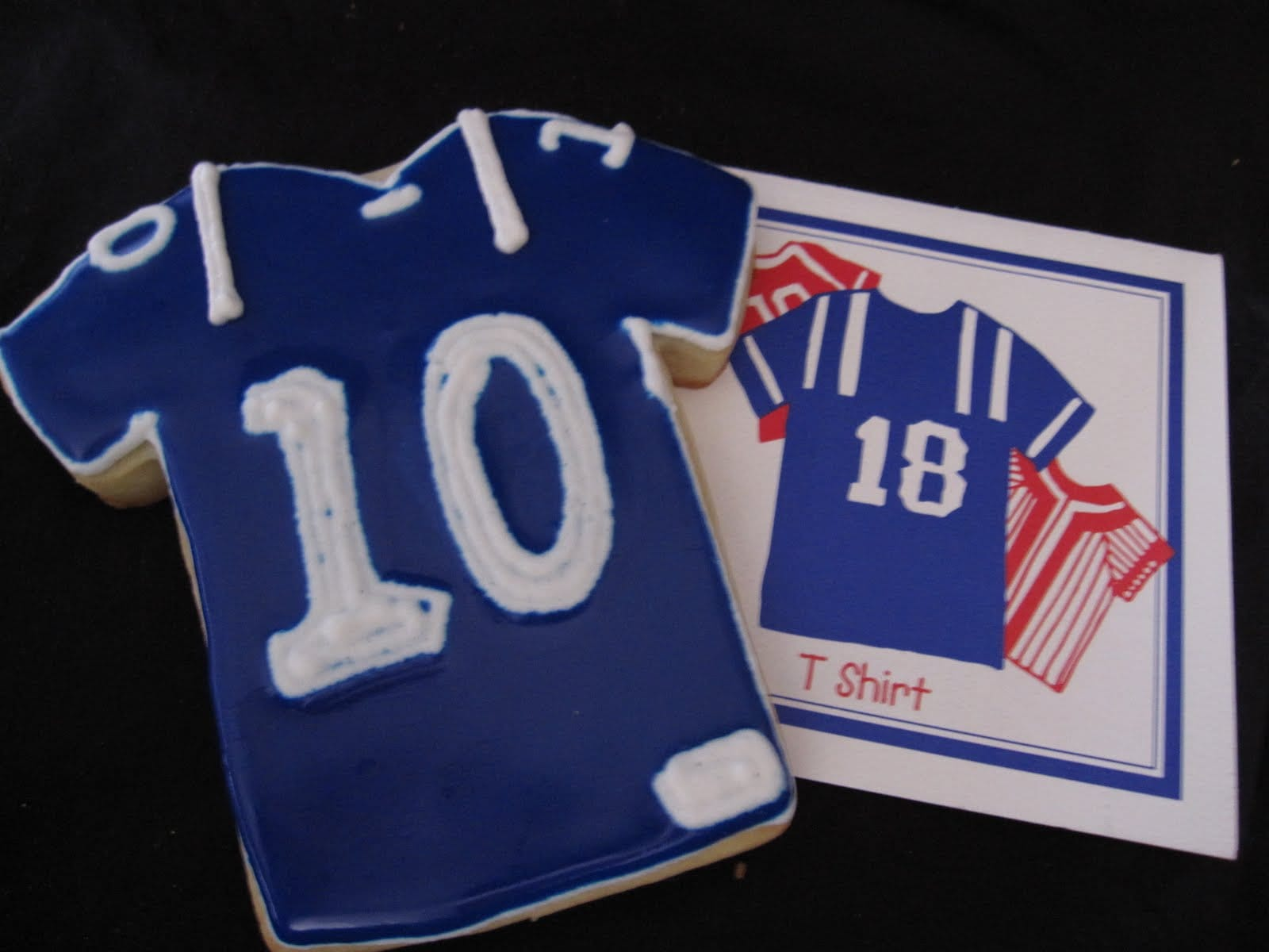 Cookie decorated as NY Giants jersey #10