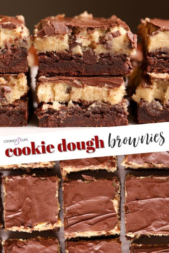 Cookie Dough Brownies Pinterest Image