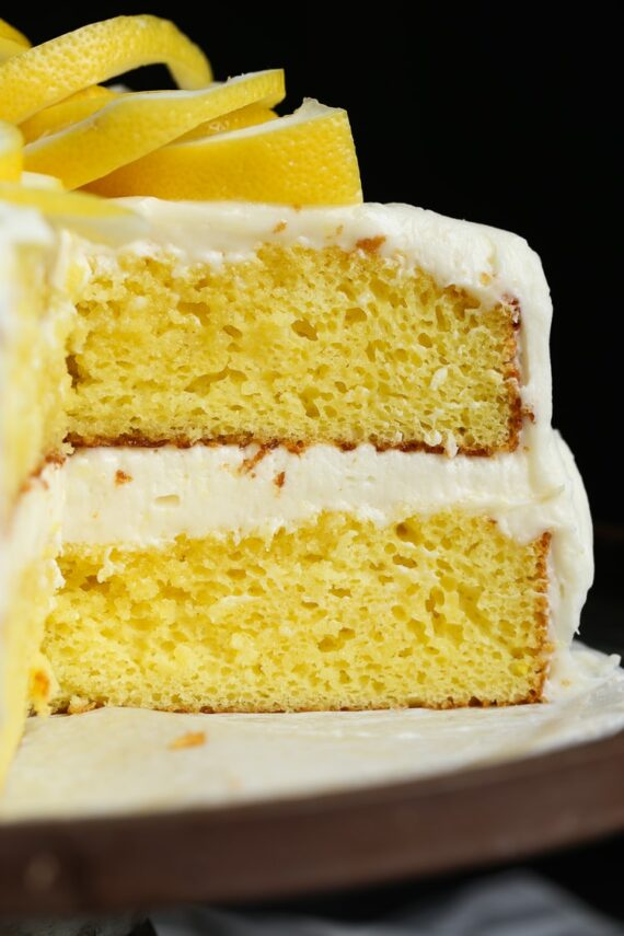 LEMONADE CAKE an easy cake recipe with lemonade concentrate added right into the batter
