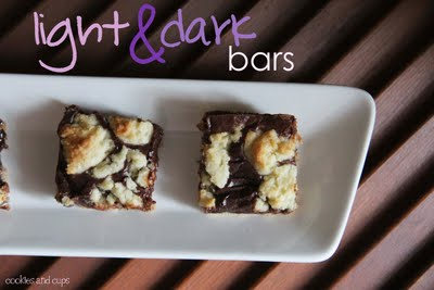 Black & White Cookie Bars
