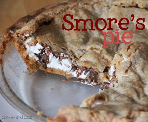 Smores Pie smore's pie - cookies and cups