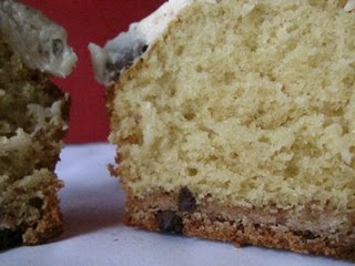 A Chips Ahoy Cupcake Cut in Half to Reveal the Fluffy Inside and Cookie Base