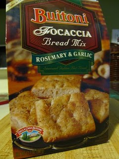 Buitoni Focaccia bread mix package
