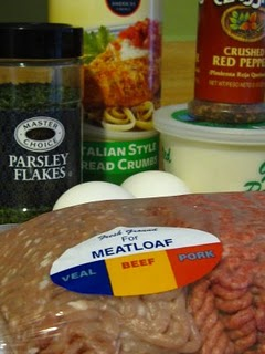 A package of meatloaf mix ground meat