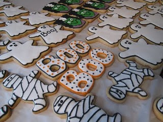Assorted Halloween Themed Decorated Sugar Cookies