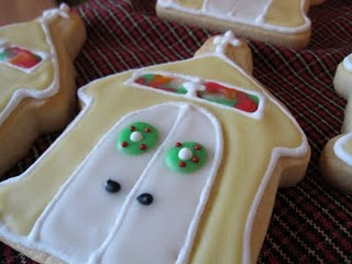 A Close-Up Shot of a Sugar Cookie Decorated Like a Church with Royal Icing