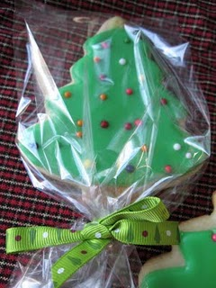 Packaged Frosted Christmas Tree Sugar Cookie