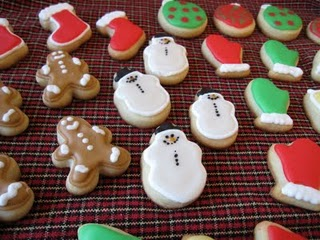 An Array of Assorted Mini Sugar Cookies with Christmas-Related Decorations
