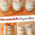 Image of Orange Dreamsicle Cupcakes in a Jar