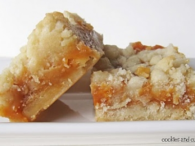 Salted Caramel Butter Bars from http://cookiesandcups.com