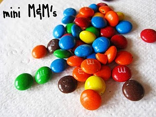 A pile of Mini M&Ms