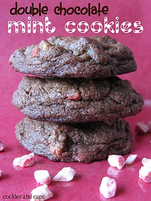 Double Chocolate Mint Cookes - Cookies and Cups