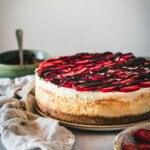 Chocolate covered strawberry cheesecake.