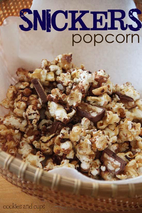 Social media image of Snickers popcorn