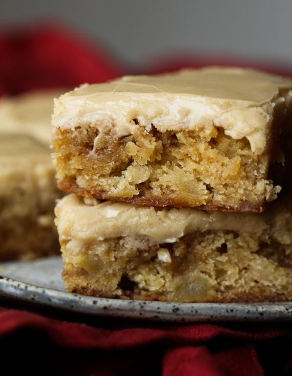 Apple Blondies stacked