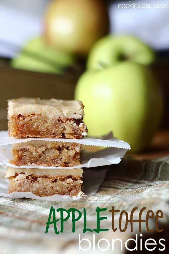 Social media image of Apple Toffee Blondies