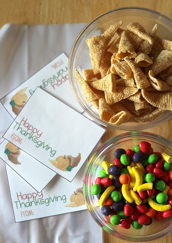 Bugle Cornucopias And A Thanksgiving Printable Cookies Cups