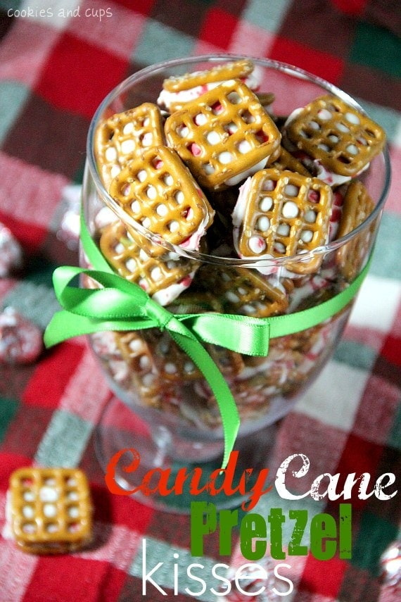 Candy Cane Pretzel Kisses Cookies And Cups