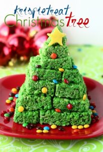 Krispie Treat Christmas TreeKrispie Treat Christmas Tree