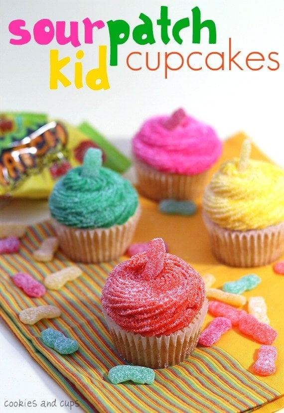 Sour Patch Kid Cupcakes Cookies And Cups