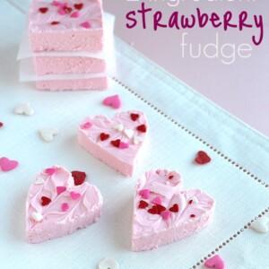 Strawberry 2 Ingredient Fudge