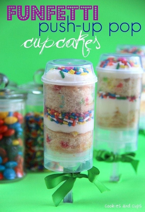 funfetti push up pop cupcakes. Black Bedroom Furniture Sets. Home Design Ideas