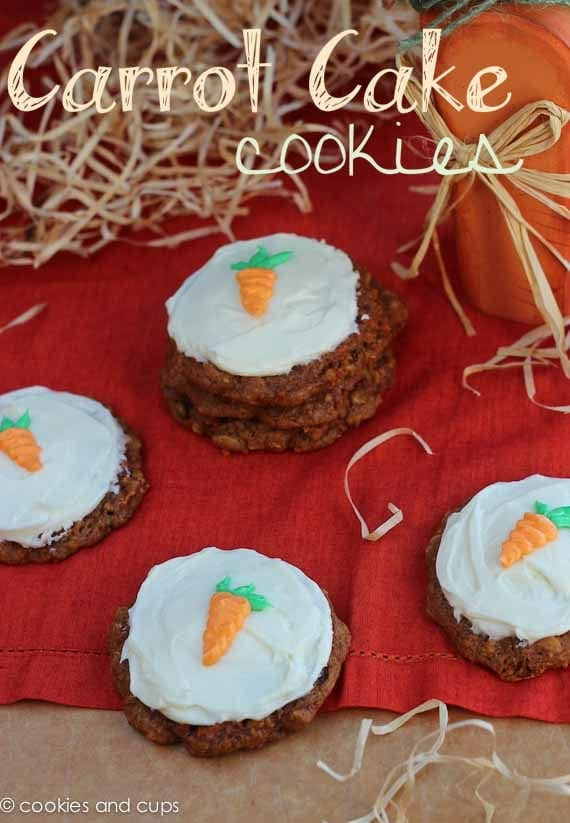 Cake Mix Carrot Cake Cookies - Cookies and Cups
