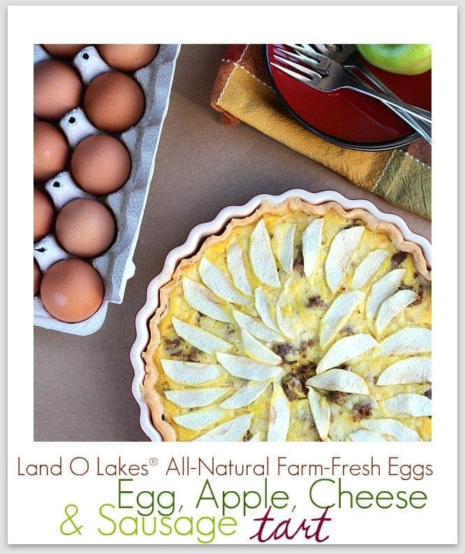 Egg, Apple, Cheese & Sausage tart