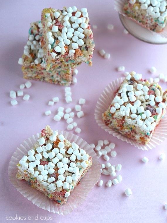 marshmallow fruity pebble krispy treats print makes 35 krispie treats ...