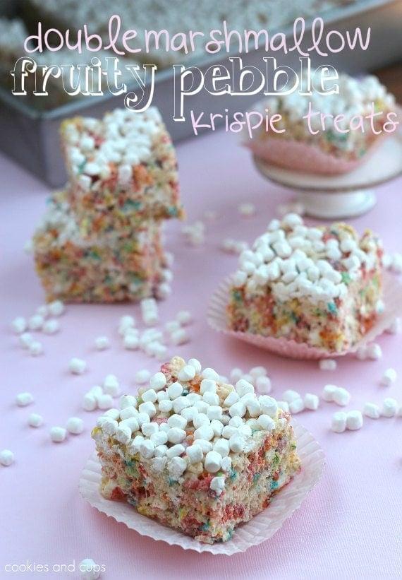Brown Butter Fruity Pebble Rice Krispy Treats Recipe ...