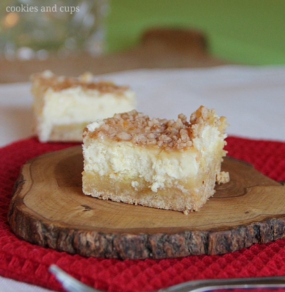 Cookies and Cups Sugar Cookie Cheesecake Bars