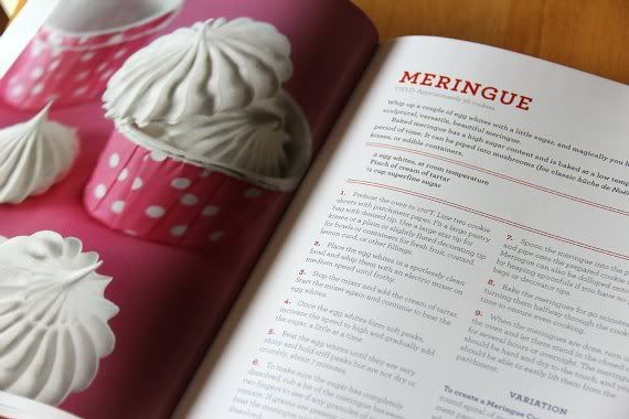 Meringues recipe in a cookbook