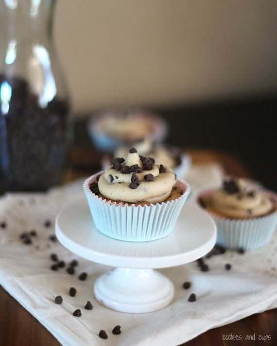 Cookie dough cup on a pedastal