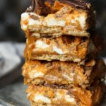Butterfinger Caramel Bars...these are no bake, ooey, gooey perfection!