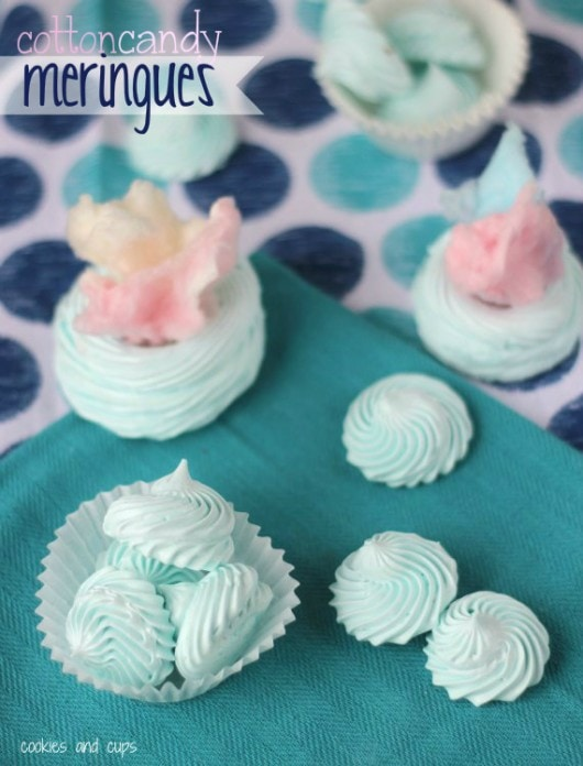 Cotton Candy Meringues!