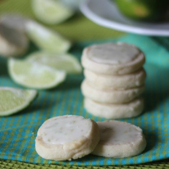 Cookies and Cups Key Lime Meltaway Shortbread
