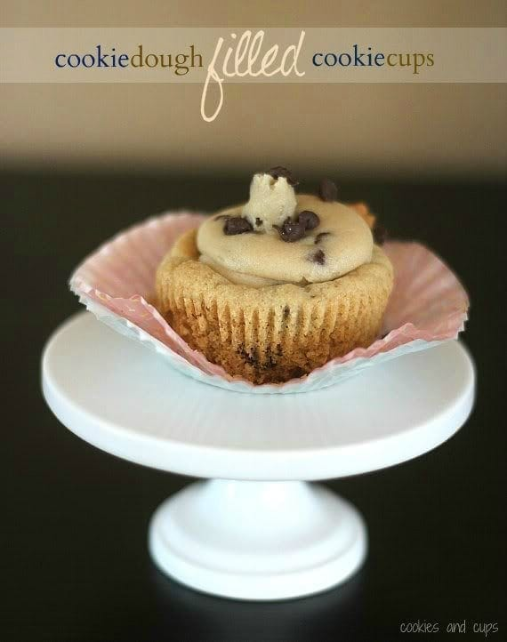 Image of a Cookie Dough Filled Cookie Cup
