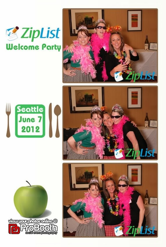 Collage of photos from Ziplist Welcome party