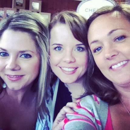 Close-up selfie of three women