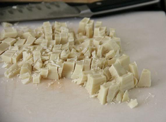 Chopped white chocolate