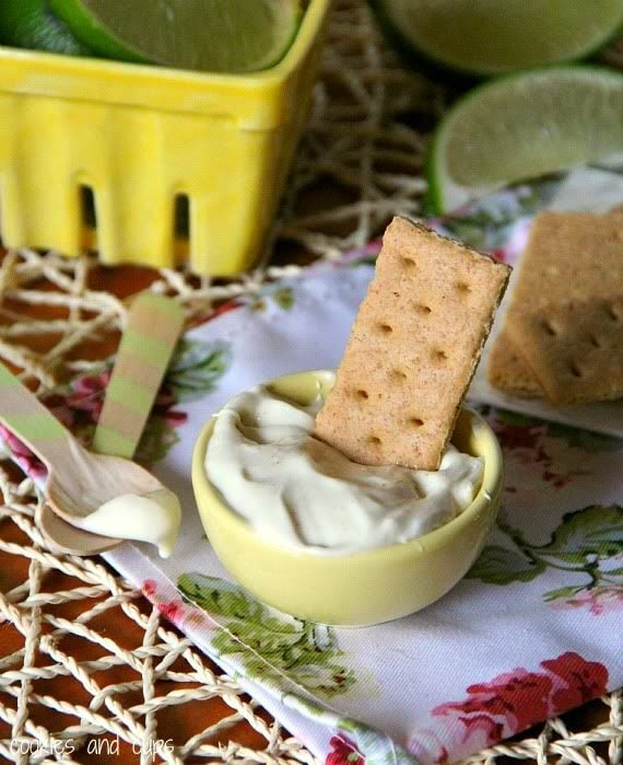 Image of Key Lime Pie Dip with a Graham Cracker