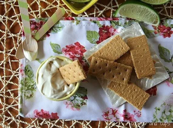 Image of Key Lime Pie Dip with Graham Crackers