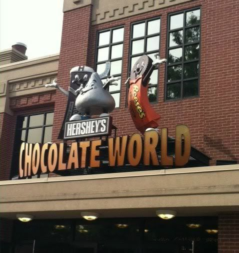 Exterior of Hershey's Chocolate World building